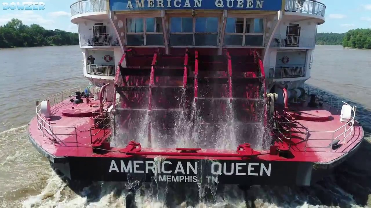 the paddle wheeler american queen youtube