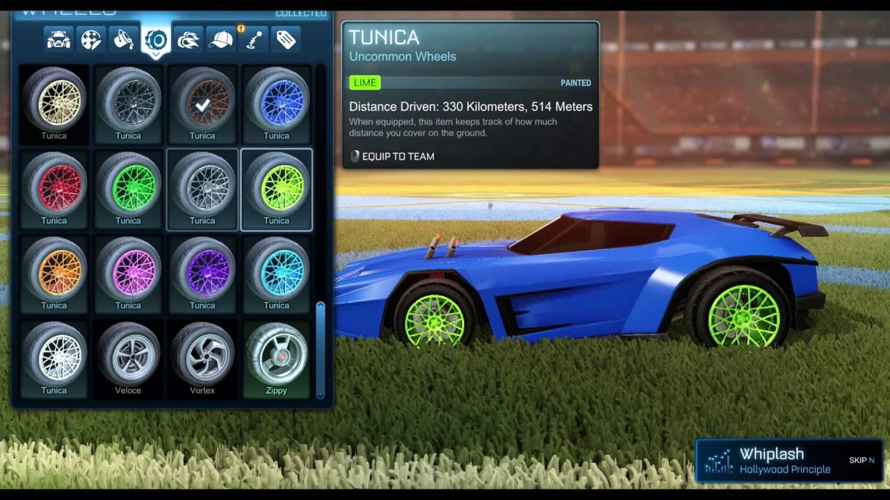 Painted Cars Rocket League