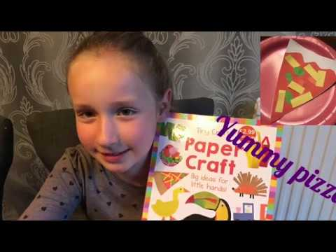 How to make a paper pizza| paper craft time for kids