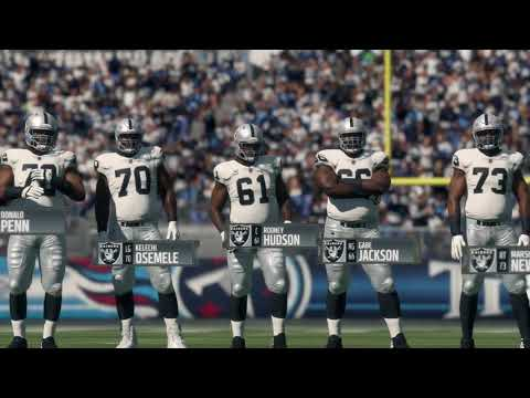 Madden 18 - Oakland Raiders vsTennessee Titans - Full Game Simulation Nation