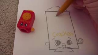Drawing Shopkins Part 56  Crispy Crackers