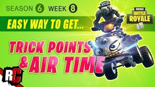 Fortnite WEEK 8 Fastest way to get Trick Points in Season 6 (Easy Trick Location)
