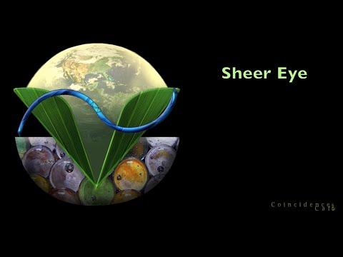 Cool Eye Shape in Sheer Curtain