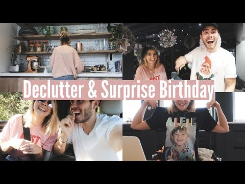 DECLUTTER & SURPRISE BIRTHDAY   WEEKLY VLOG