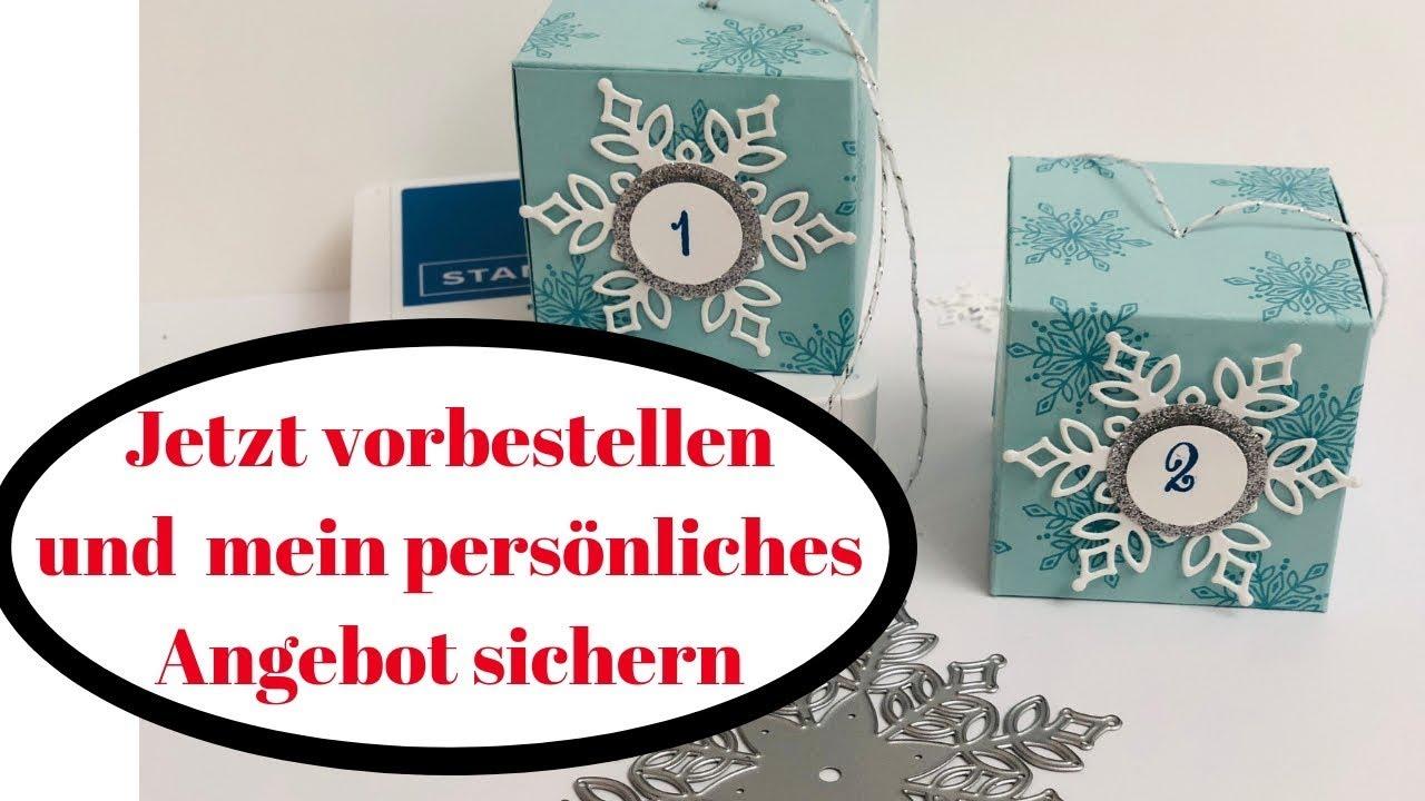 Weihnachtskalender Angebote.Adventskalender 2018 Flockengestöber Stampin Up Anleitung