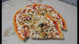 Очень вкусная домашняя пицца!!! Быстрый и легкий рецепт !!!