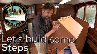 Let's build some steps. - #219 - Boat Life - Living aboard a wooden boat - Travels With Geordie