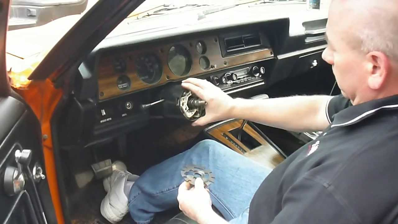 Turn Signal Switch Repacement in 70's GM Vehicle Part 1 of 3  YouTube