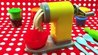 Spaghetti Factory Toy Making Play-Doh Pasta With Johny Johny Yes Papa Playset Unboxing and Review