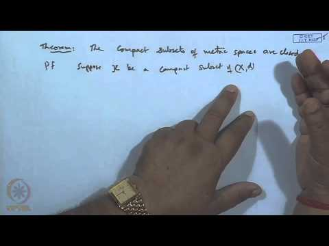 Mod 10 Lec 12 Compact Sets And Its Properties Youtube