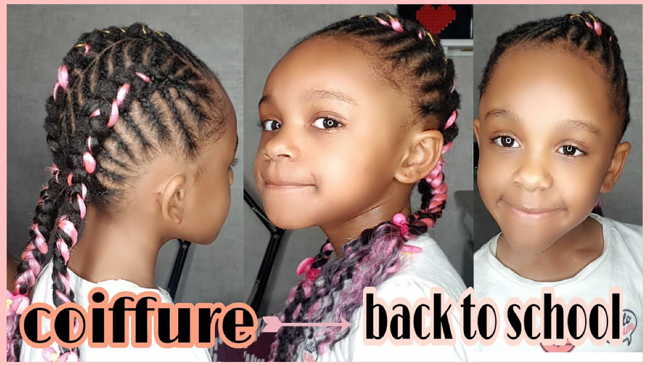 model tresse africaine pour enfant /hairstyles braids for kids - YouTube