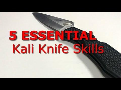 5 Essential Kali Knife Fighting Basics Filipino Knife Fighting Youtube