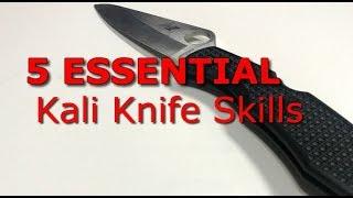 5 ESSENTIAL Kali Knife Fighting Basics - filipino knife fighting