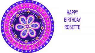 Rosette   Indian Designs - Happy Birthday