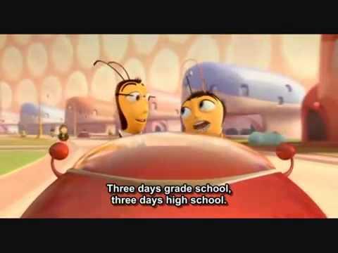 bee movie simple present youtube