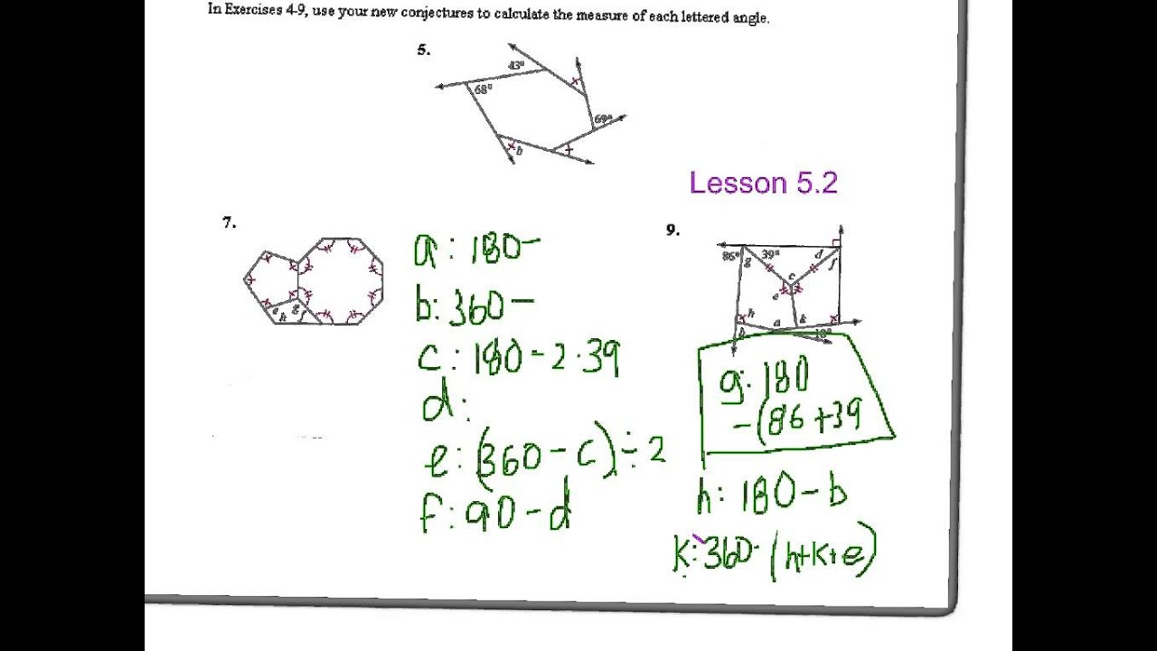 Discovering Geometry Lesson 5.2 #9