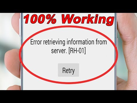 Fix Error Retrieving Information From Server rh-01 In Google Play Store