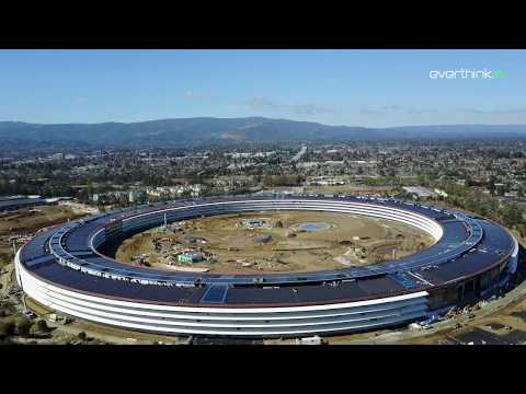 Apple Park Drone Footage February 2017 Cupertino CA 4K