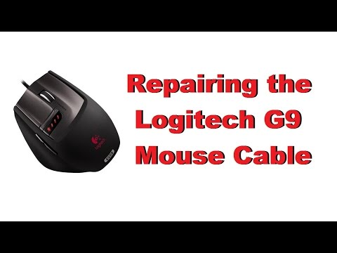 Logitech G9 Mouse Cable Repair and Fix