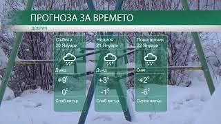 Прогноза за времето на 20-ти, 21-ви и 22-ри Януари 2018г.