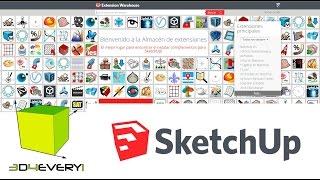 Utilizar los plugins Mirror y Front Face en Sketchup