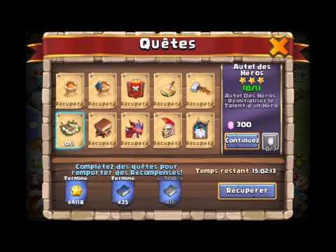 Castle Clash - Ouverture Carte Héro Legend Et Réinitialisation Talent