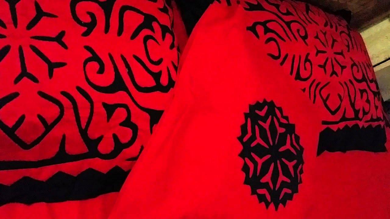 Handmade bed sheets design - Handmade Applique Bedsheet 1