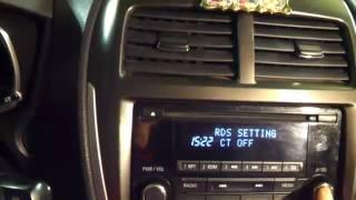 Настройка часов на рестайловой магнитоле ASX