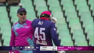 Asif Ali massive straight six to reach 50