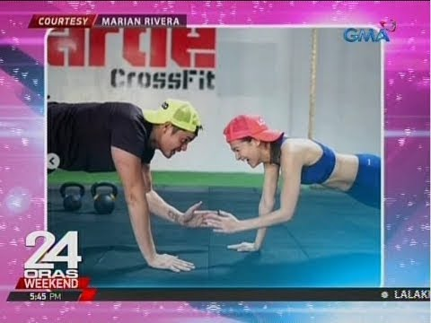 24 Oras: Marian Rivera at Dingdong Dantes, nag-workout sa gym together - 동영상