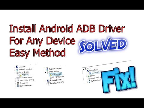 ADB Driver Install Windows 7 8 10 Tutorial | Install ADB Drivers For Any Android Device