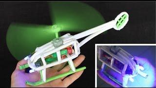 Как сделать бумажный вертолет | электрический вертолет(Материалы: А4, электродвигатель, светодиоды, 2 переключателя, 4 батареи, горячий клей, супер клей, лента Инстр..., 2015-10-29T00:21:31.000Z)