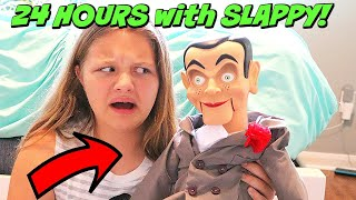 Slappy&#39s Back! 24 Hours With SLAPPY! Goosebumps In Real Life!