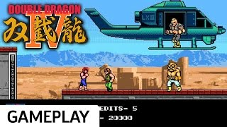 Double Dragon IV - Rooftop Helicopter Beatdown Gameplay