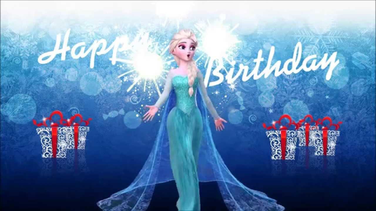 Frozen Happy Birthday Wishes Youtube