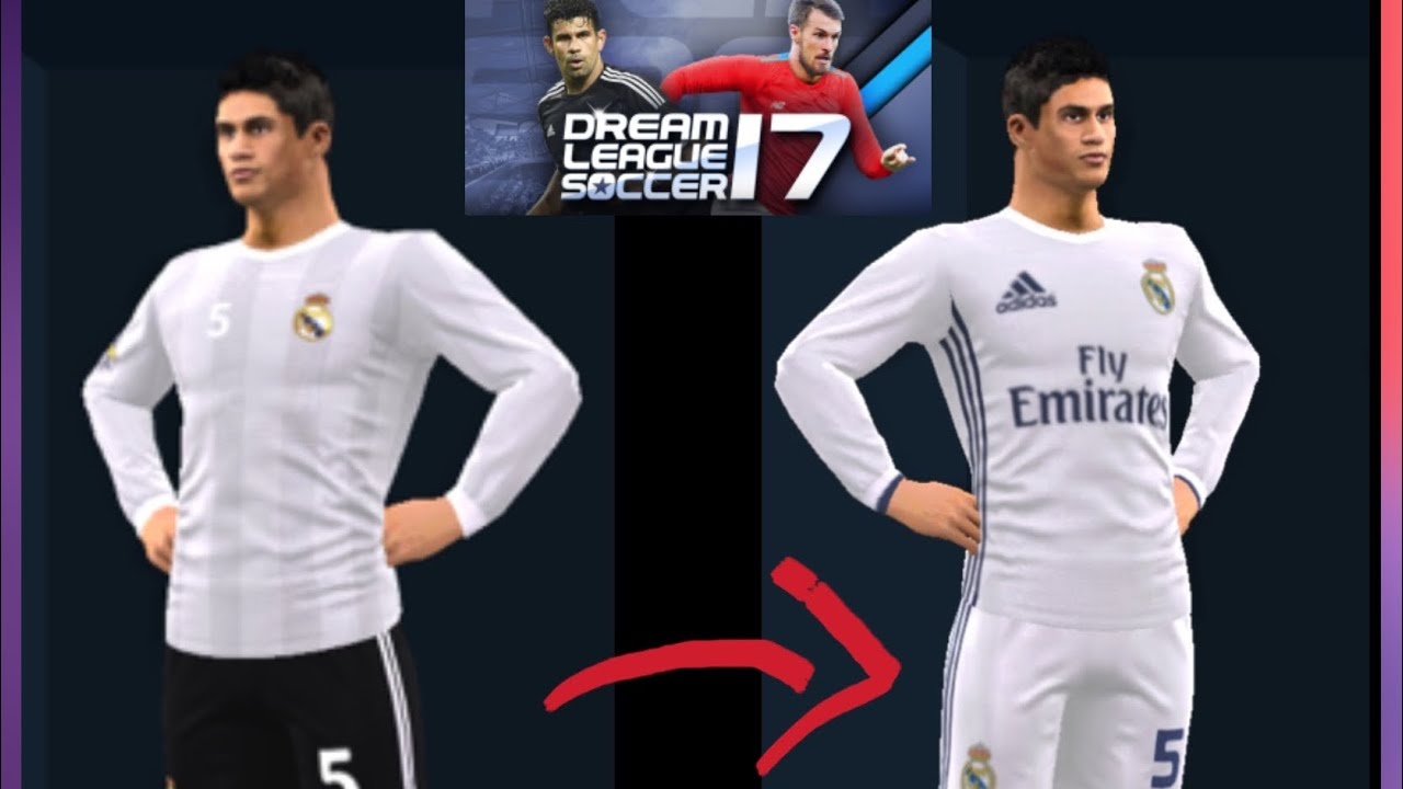 more photos 9a927 9d189 How to put real Madrid kit 2018 for dream league soccer 2018