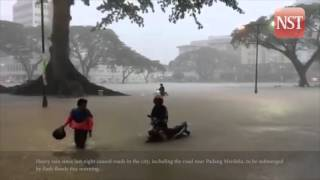 Flash floods in Kuching