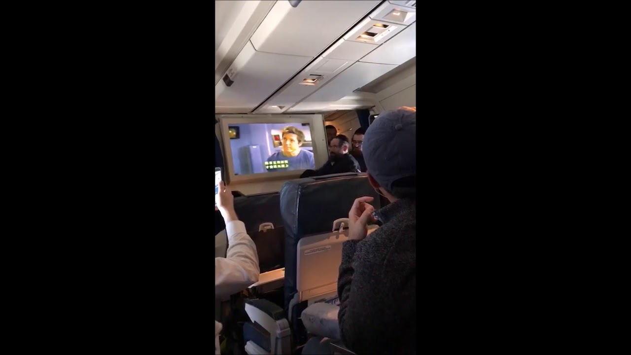 Chassidim Cover Movie Screens On Airplane