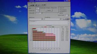 (HD) ATTO Disk benchmark on WD Caviar WD1200JB-75CRA0 120GB HDD