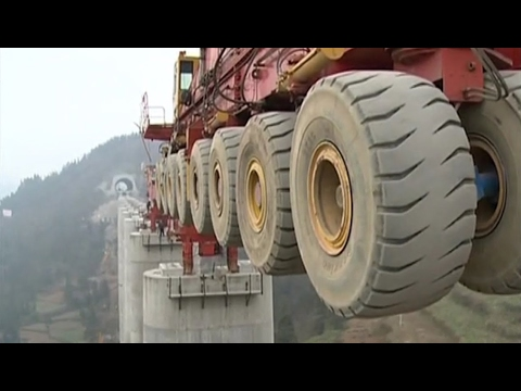 The biggest bridge construction machine, Heavy construction equipment world