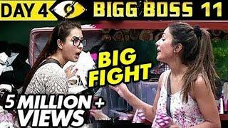 hina khan vs shilpa shinde big fight   bigg boss 11 day 4 episode 4   5th october 2017 full update