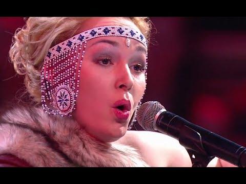 Fantastic Inuit Throat Singing On TV Show (Veronica Usholik)
