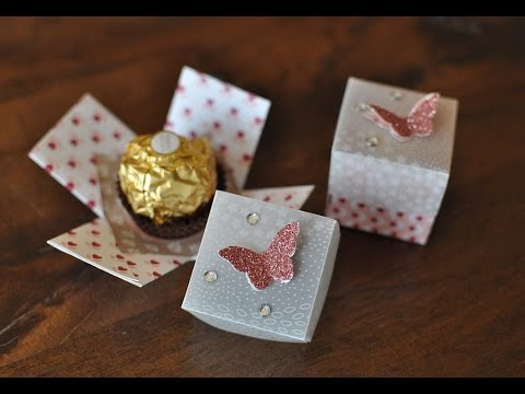 mini explosionsbox f r ein ferrero rocher mit produkten von stampin 39 up youtube