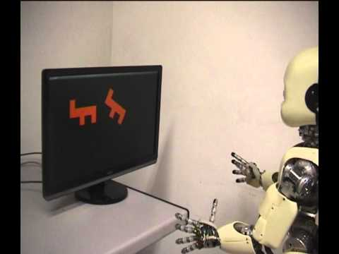 The iCub robot makes mental rotation