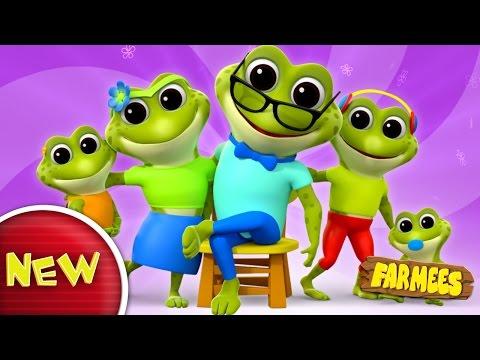 Frog Finger Family | Nursery Rhymes | Kids Songs | Baby Rhymes by Farmees
