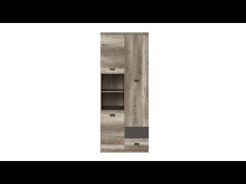 Шкаф REG3D2S цвета дуб каньон монумент