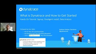 Online Perf Clinic - What is Dynatrace and how to get started