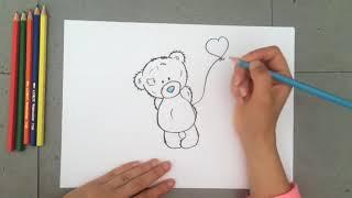 Как нарисовать мишку Тедди ️