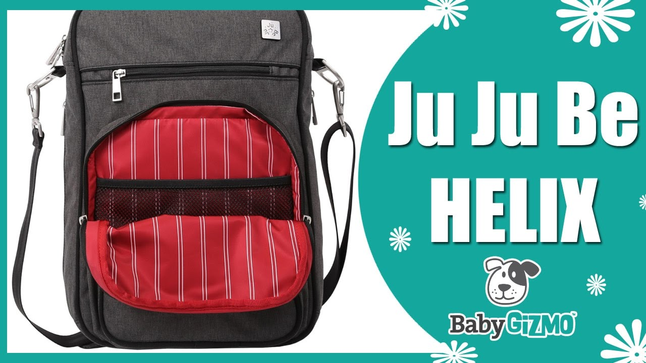 From ju-ju-be comes the b. F. F. Diaper bag in the first lady, a stylish black-and -white striped bag that features enough zippers and pouches to store.