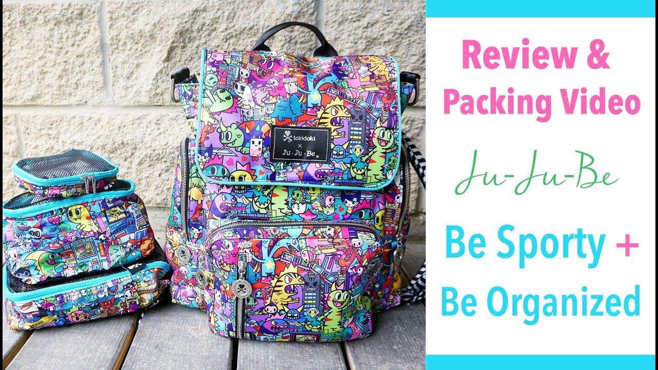 ee58aeed49d3 Review   Packing Video  Ju-Ju-Be Be Sporty in tokidoki Kaiju City Packed +  Be Organized!